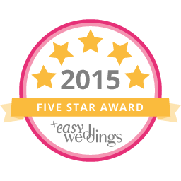 We've achieved the 2015 Five-Star Supplier award on www.easyweddings.com.au - See our profile here!